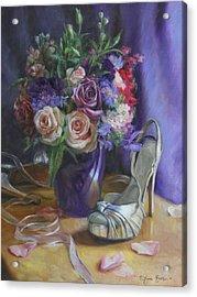 Summertime Stilettos Acrylic Print by Anna Rose Bain