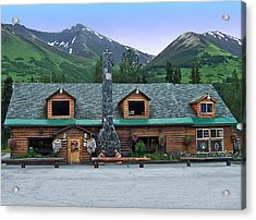 Summit Lake Lodge Alaska Acrylic Print by Aimee L Maher Photography and Art Visit ALMGallerydotcom