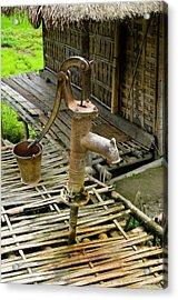 Sumoimari Ghat, Majuli Island, Assam Acrylic Print by Ellen Clark
