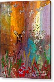 Sun Deer Acrylic Print by Robin Maria Pedrero