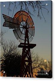 Sun Moon And Wind Acrylic Print by Robert Frederick
