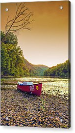Sun Sets At Buffalo River Acrylic Print by Bill Tiepelman