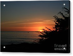 Sun Setting In Cambria Calm Pacific Acrylic Print by Ian Donley