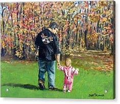 Sunday Walk With Dad Acrylic Print by Jack Skinner