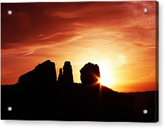 Sundown At Cathedral Acrylic Print by Tom Kelly