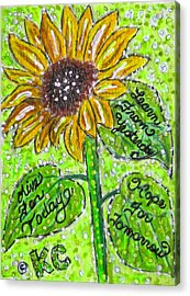 Sunflower Advice Acrylic Print by Kathy Marrs Chandler