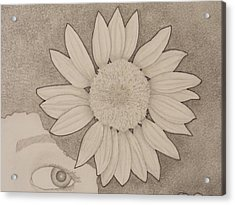 Sunflower Peeping Eye Acrylic Print by Aaron El-Amin