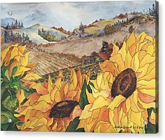 Sunflower Serenity Acrylic Print by Meldra Driscoll