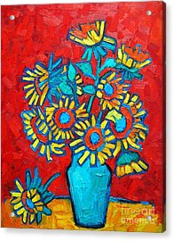 Sunflowers Bouquet Acrylic Print by Ana Maria Edulescu