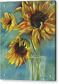 Sunflowers Acrylic Print by Chris Brandley