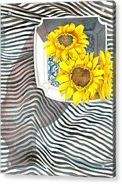 Sunflowers Acrylic Print by Sayyidah Seema Zaidee