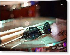 Sunglasses And Sticks Acrylic Print by Lynda Dawson-Youngclaus