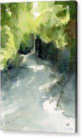 Sunlight And Foliage Conservatory Garden Central Park Watercolor Painting Acrylic Print by Beverly Brown Prints