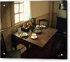 Sunlight On Dining Table Acrylic Print by RC deWinter