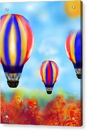 Sunny Balloon Ride Acrylic Print by Christine Fournier
