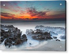 Sunrise At Blowing Rocks Preserve Acrylic Print by Andres Leon