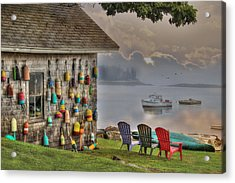 Sunrise At Boothbay Harbor Acrylic Print by Lori Deiter