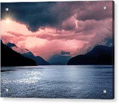 Sunrise At  Indian Arm - British Columbia Acrylic Print by Carol Cottrell