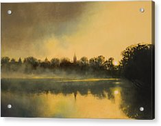 Sunrise At Notre Dame / Available As A Commission Acrylic Print by Cap Pannell