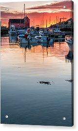 Sunrise At Rockport Harbor - Cape Ann Acrylic Print by Thomas Schoeller
