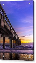 Sunrise At The Pier Acrylic Print by Marvin Spates