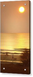 Sunrise At Topsail Island Panoramic Acrylic Print by Mike McGlothlen