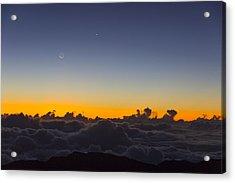Sunrise Haleakala Volcano Acrylic Print by Norman Blume