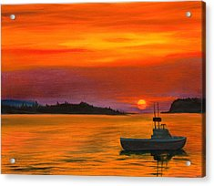 Sunrise In Maine Acrylic Print by Phillip Compton