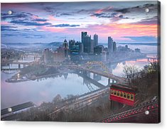 Pittsburgh Fall Day Acrylic Print by Emmanuel Panagiotakis