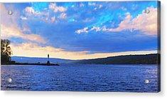 Sunrise On Cayuga Lake Ithaca New York Panoramic Photography Acrylic Print by Paul Ge