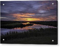 Sunrise On Lake Shelby Acrylic Print by Michael Thomas