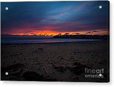 Sunrise On Shortsands  Acrylic Print by Sue OConnor