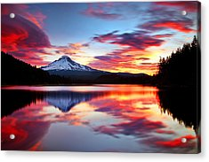 Sunrise On The Lake Acrylic Print by Darren  White