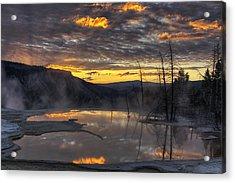 Sunrise On The Terrace Acrylic Print by Mark Kiver