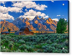 Sunrise On The Tetons Limited Edition Acrylic Print by Greg Norrell