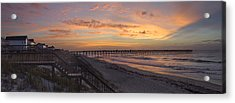 Sunrise On Topsail Island Panoramic Acrylic Print by Mike McGlothlen