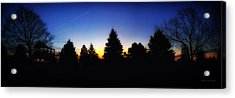 Sunrise Over East Lawn Panorama Acrylic Print by Thomas Woolworth