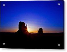 Sunrise Over Monument Valley Acrylic Print by Susan Schmitz