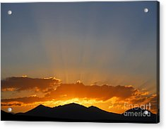 Sunrise Over Mountains Acrylic Print by Robert Preston