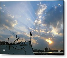 Sunrise Over Philadelphia  Acrylic Print by Shoal Hollingsworth