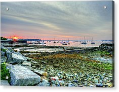Sunrise Over Rockland Harbor Acrylic Print by Tim Sullivan