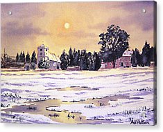Sunrise Over St Botolph's Church Acrylic Print by Bill Holkham