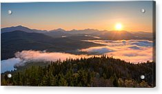 Sunrise Over The Adirondack High Peaks Acrylic Print by Panoramic Images