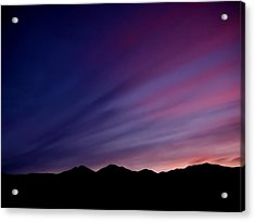 Sunrise Over The Mountains Acrylic Print by Rona Black