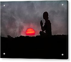 Sunrise Prayer Acrylic Print by Betsy C Knapp