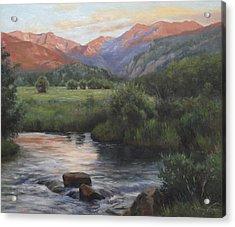 Sunrise Rocky Mountain National Park Acrylic Print by Anna Rose Bain
