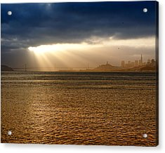 Sunrise San Francisco Bay Acrylic Print by Troy Montemayor