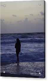 Sunrise Surf Acrylic Print by Tannis  Baldwin