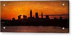 Sunrise Through The City Acrylic Print by Dale Kincaid