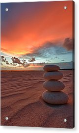 Sunrise Zen Acrylic Print by Sebastian Musial